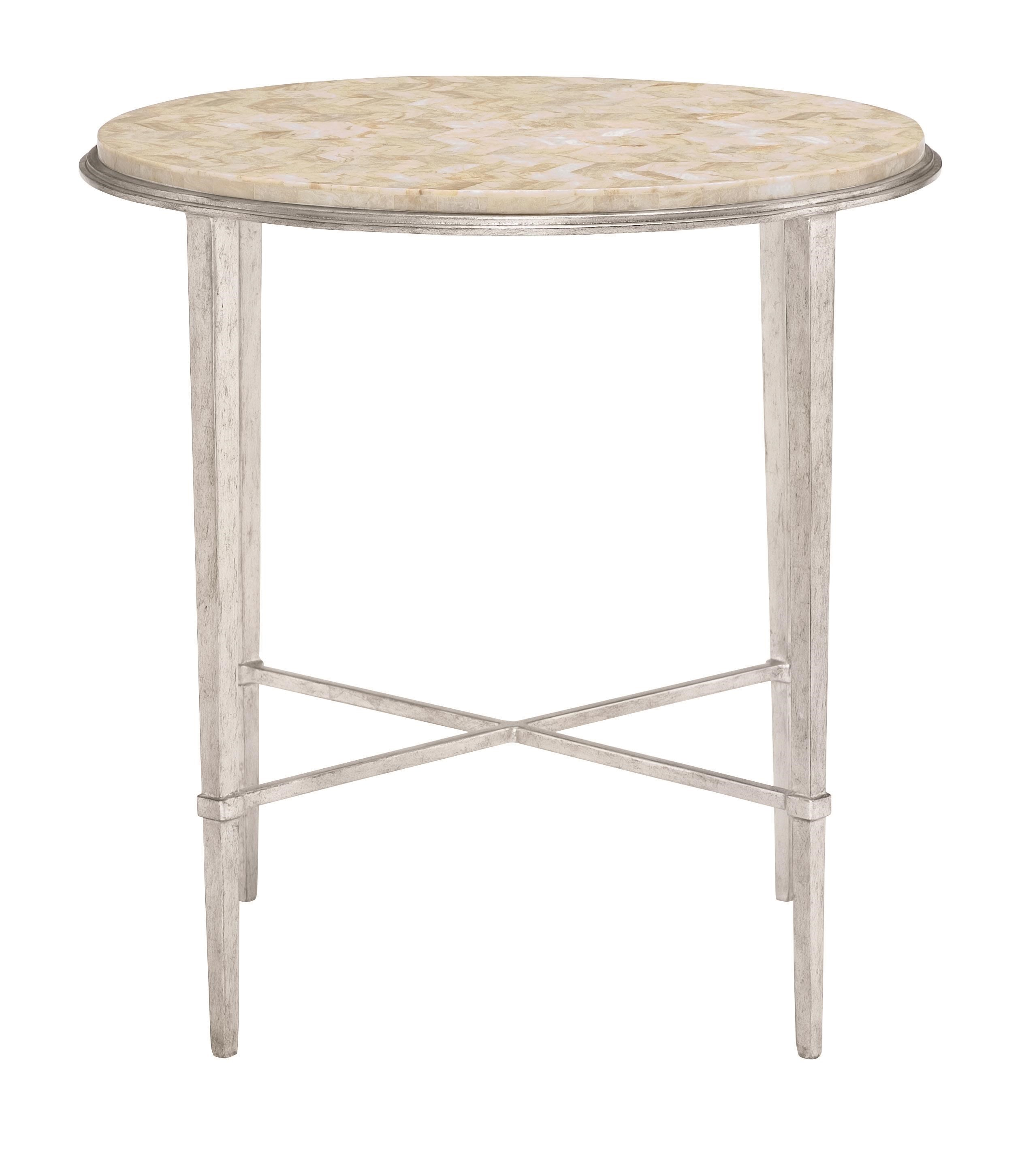 Solange Solange Round Chair Side Table by Bernhardt at Morris Home