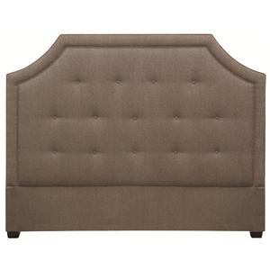 Crested Queen Size Upholstered Headboard