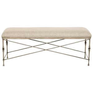 Customizable Metal Bench with Upholstered Seat