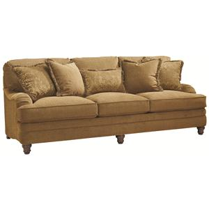 Traditional Styled Stationary Sofa