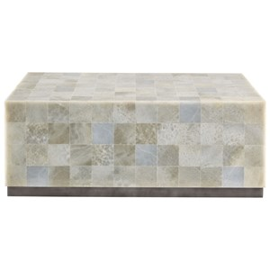 Rectangular Stone Cocktail Table
