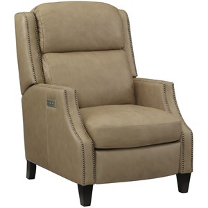 Contemporary Power High-Leg Recliner with Power Headrest and USB Port