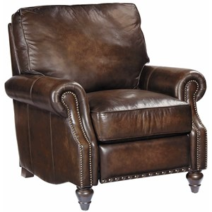Leather Murphy Reclining Chair w/ Nail Head Trim