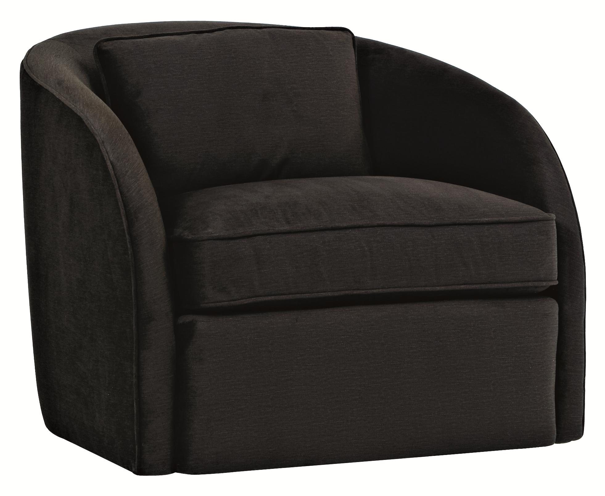 Upholstered Accents Turner Swivel Chair by Bernhardt at Baer's Furniture