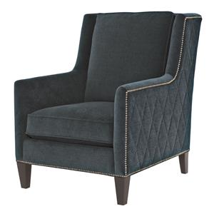 Contemporary Chair with Nail Head Trim
