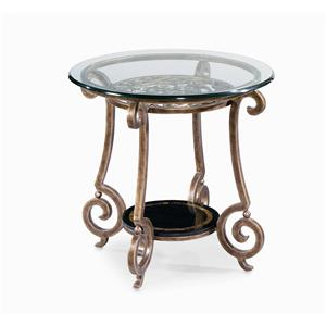 Round End Table Base & Glass Top