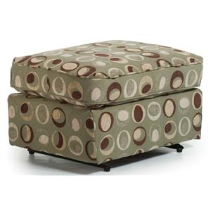 Glide Ottoman with Boxed Seat