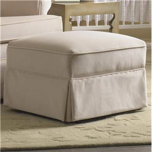 Glide Ottoman with Attached Seat and Skirt