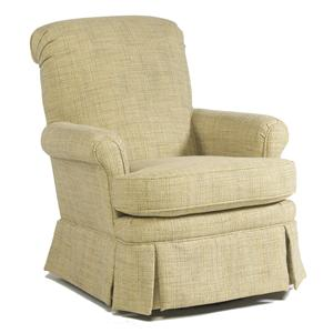 Nava Swivel Chair with Rolled Back and Skirt