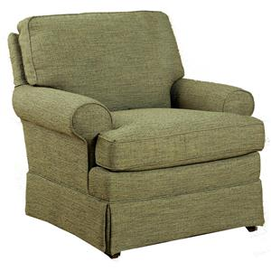 Quinn Swivel Chair with Rolled Arms