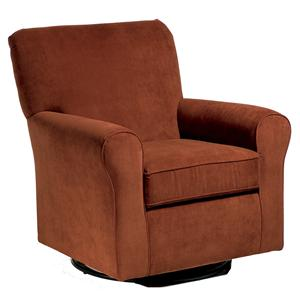 Hagen Swivel Chair with Contemporary Frame
