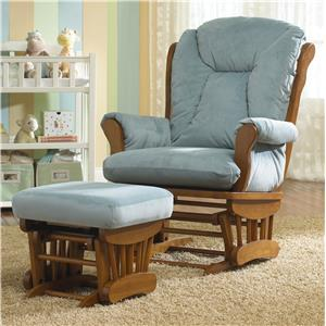 Best Chairs Storytime Series Storytime Glider Rockers and Ottomans Manuel Chair and Ottoman Set