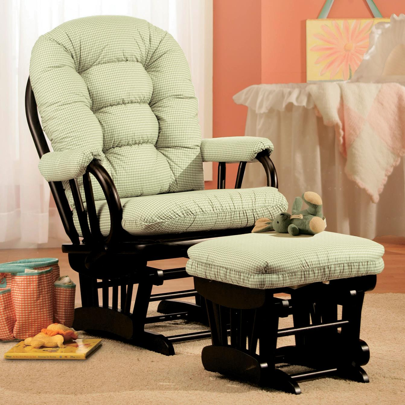 Storytime Glider Rockers and Ottomans Sona Glider and Ottoman Set by Best Chairs Storytime Series at Best Home Furnishings