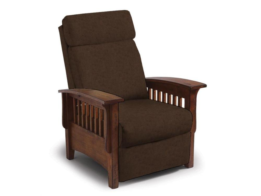 Recliners - Pushback Sable Mission Pushback Recliner by Best Home Furnishings at Walker's Furniture