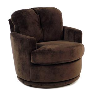 Swivel Chair w/ Plush Tufted Back