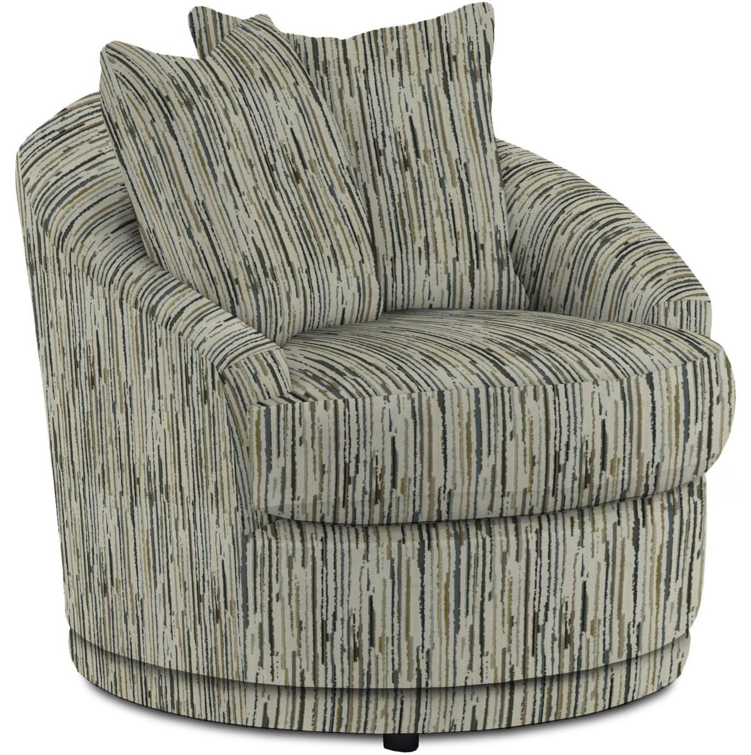 Alanna Swivel Barrel Chair by Bravo Furniture at Bennett's Furniture and Mattresses