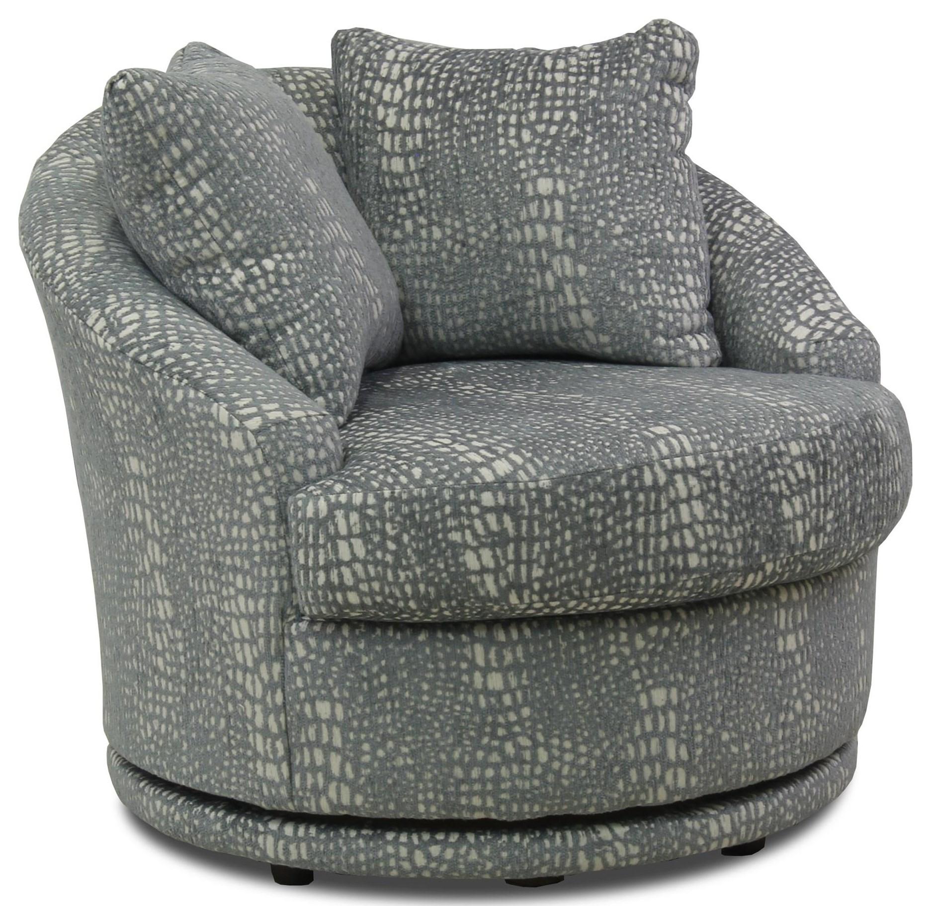 Alanna Swivel Barrel Chair at Ruby Gordon Home