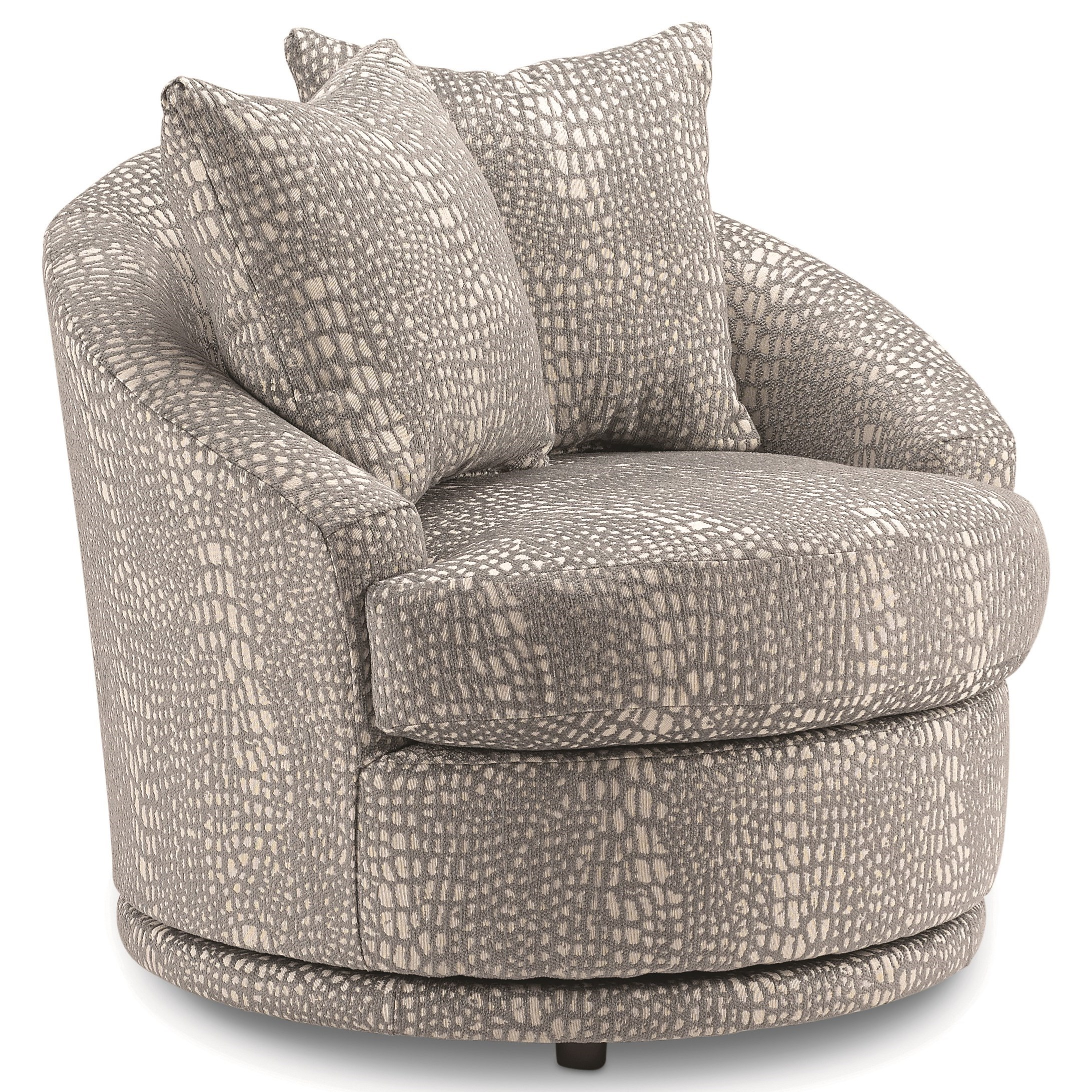 Alanna Swivel Barrel Chair by Bravo Furniture at Bennett's Furniture and Mattresses