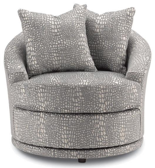 Blevins Barrel Swivel Chair by Best Home Furnishings at Crowley Furniture & Mattress