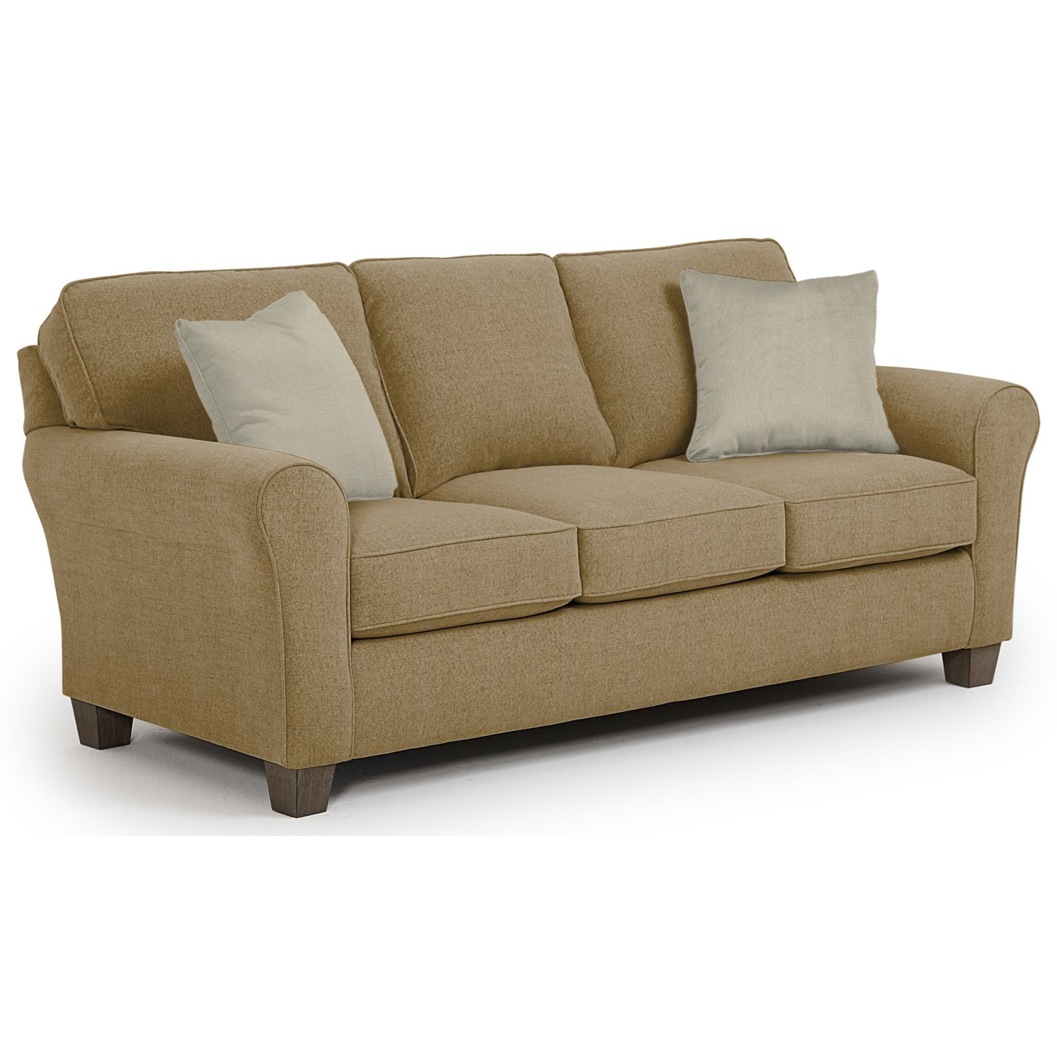 Annabel  Custom 3 Over 3 Sofa by Best Home Furnishings at Saugerties Furniture Mart