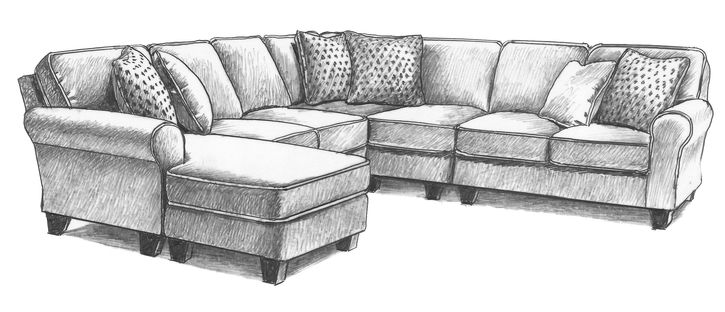 Annabel  5 Pc Sectional Sofa by Best Home Furnishings at EFO Furniture Outlet