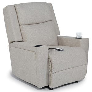 Power Space Saver Recliner with Built-In Cupholders Power Head and Lumbar