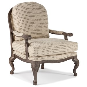 Best Home Furnishings Accent Chairs Cogan Exposed Wood Accent Chair