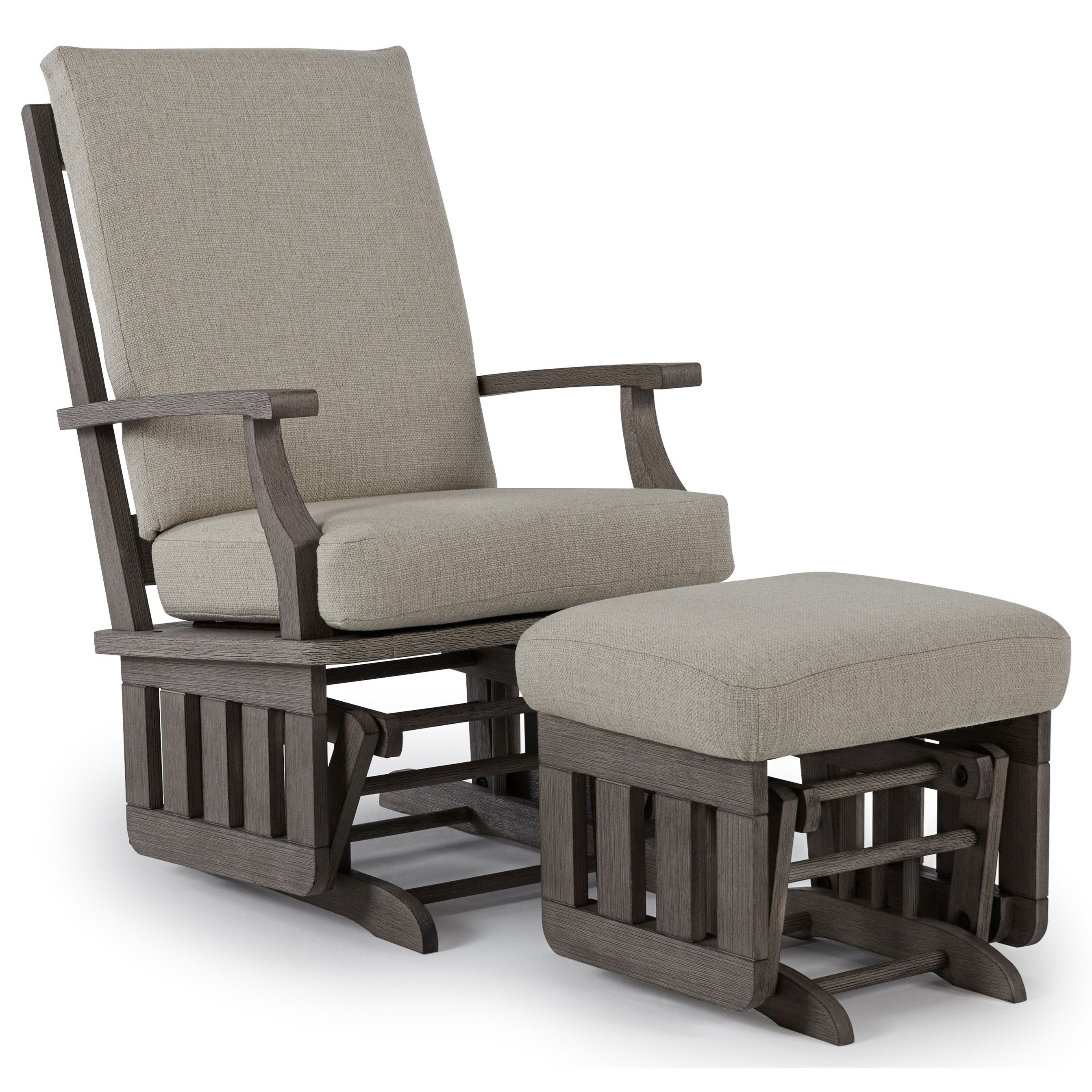 Heather Glide Rocker and Ottoman by Best Home Furnishings at Walker's Furniture