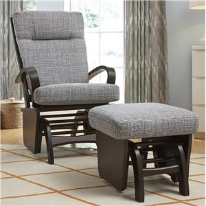 Best Home Furnishings Glider Rockers Dominique Glider Rocker and Ottoman