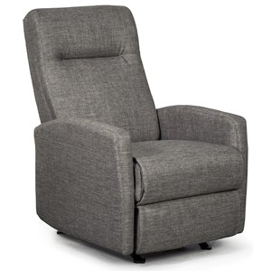 Small Scale Wall Saver Recliner with Hidden Release Handle