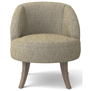 Contemporary Swivel Barrel Chair
