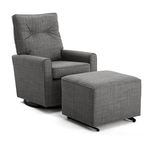 Swivel Glider Chair and Glide Ottoman Set