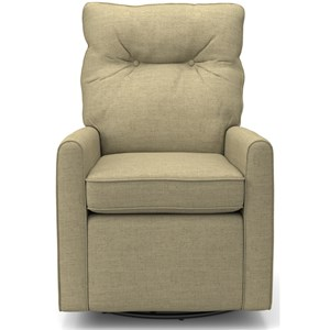 Small Scale Swivel Glider Chair with Tufted Back