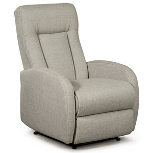Contemporary Wall Saver Recliner with Hidden Release Handle