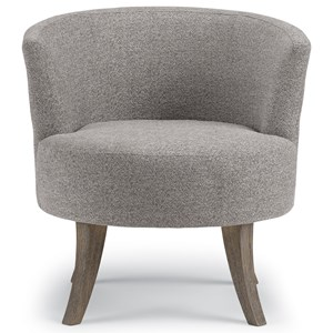 Mid Century Modern Swivel Barrel Chair