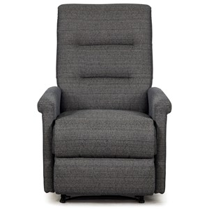 Transitional Power Rocker Recliner with Hidden Release Handle