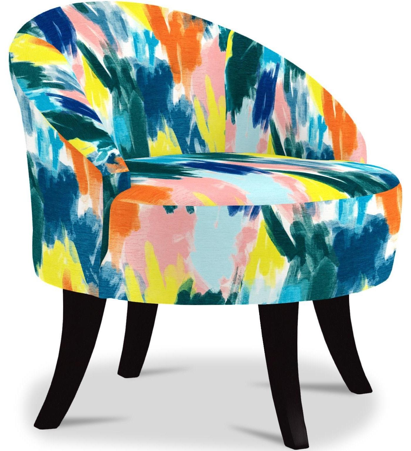 Vann Swivel Barrel Chair by Bravo Furniture at Bennett's Furniture and Mattresses