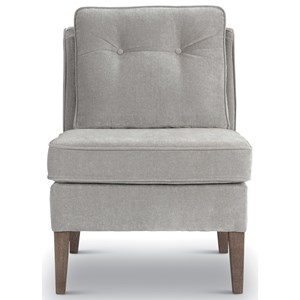 Transitional Armless Accent Chair
