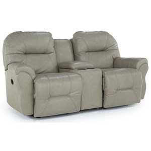 Power Rocking Reclining Loveseat with Storage Console