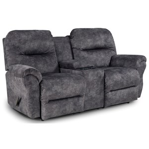Space Saver Reclining Loveseat with Storage Console
