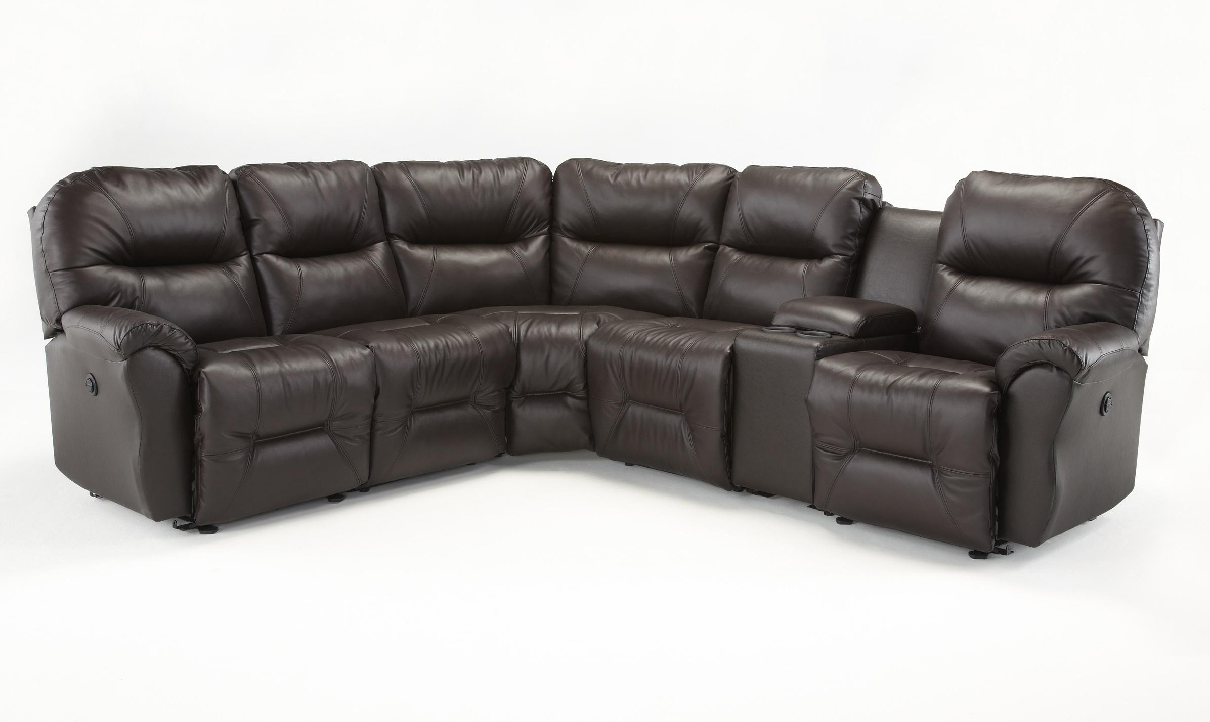 Bodie 6 Pc Reclining Sectional Sofa by Best Home Furnishings at Saugerties Furniture Mart