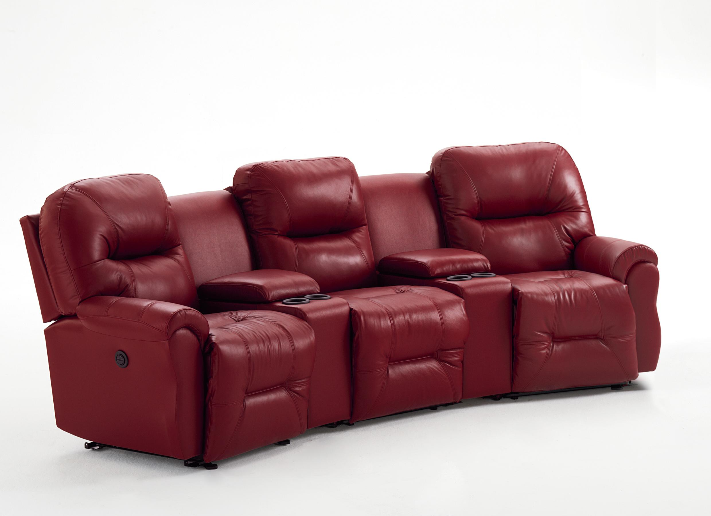 Bodie 3-Seater Power Reclining Home Theater Group by Best Home Furnishings at Best Home Furnishings