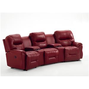 3-Seater Power Reclining Home Theater Group