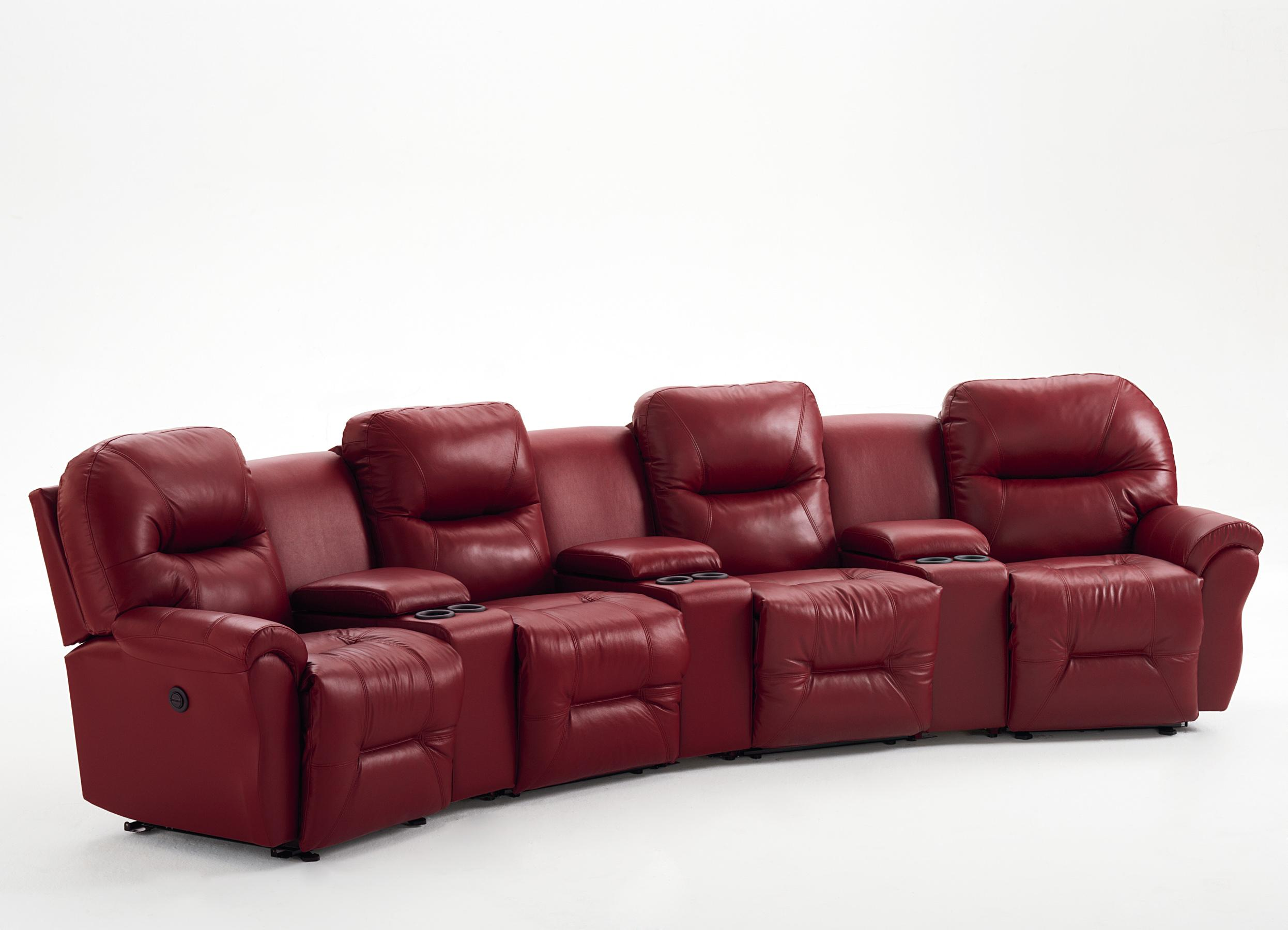 Bodie 4-Seater Power Reclining Home Theater Group by Best Home Furnishings at Baer's Furniture
