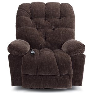Casual Power Rocker Recliner with Tufted Back