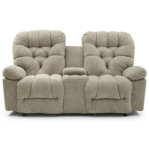 Space Saving Console Loveseat with Cupholders
