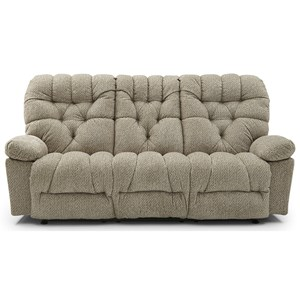 Power Space Saving Reclining Sofa with Tufted Back