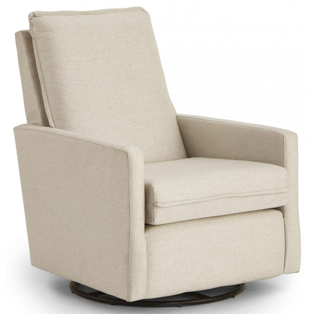 Bre Swivel Glider Chair by Best Home Furnishings at Baer's Furniture