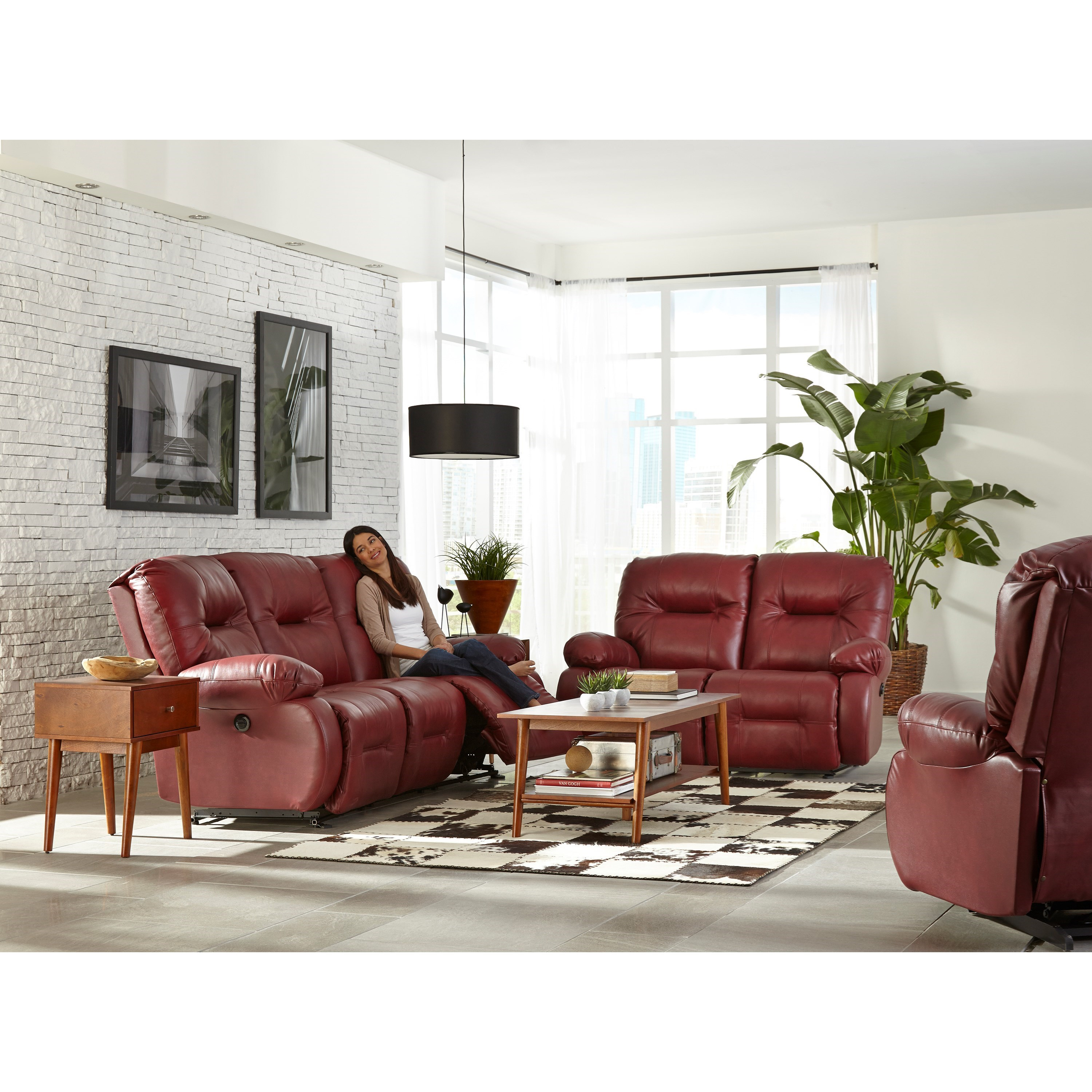 Brinley 2 Reclining Living Room Group by Best Home Furnishings at Best Home Furnishings