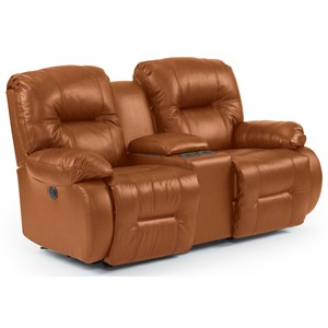 Power Rocking Reclining Console Loveseat